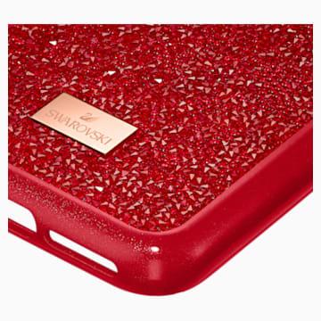 Husă cu protecție pentru smartphone Glam Rock, iPhone® 11 Pro, roșie - Swarovski, 5515625