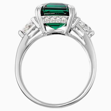 Anello cocktail Attract, verde, Placcatura rodio - Swarovski, 5515712