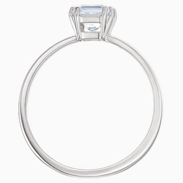 Attract Motif Ring, White, Rhodium plated - Swarovski, 5515728