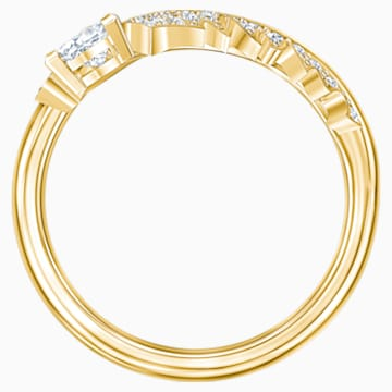 Nice 戒指图案, 白色, 镀金色调 - Swarovski, 5515754