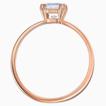 Attract-ring met motief, Wit, Roségoudkleurige toplaag - Swarovski, 5515776