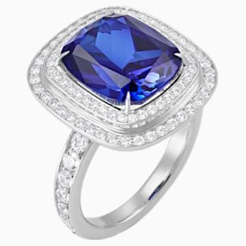 Ángel Double Halo Ring, Swarovski Created Sapphire, 18K White Gold, Size 52 - Swarovski, 5516295