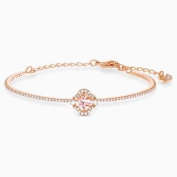 Swarovski Sparkling Dance Bangle, Pink, Rose-gold tone plated - Swarovski, 5516476