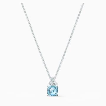Pendentif Sparkling, aiguemarine turquoise, métal rhodié - Swarovski, 5516483