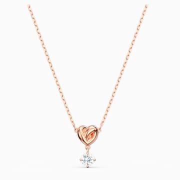 Lifelong Heart-hanger, Wit, Roségoudkleurige toplaag - Swarovski, 5516542