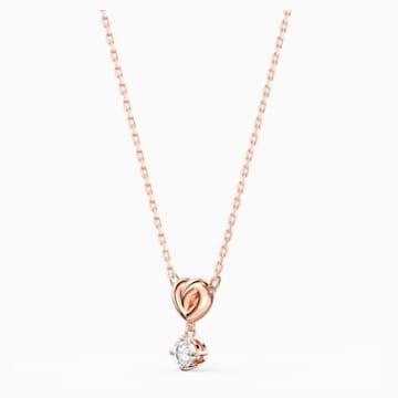 Pendente Lifelong Heart, bianco, placcato color oro rosa - Swarovski, 5516542