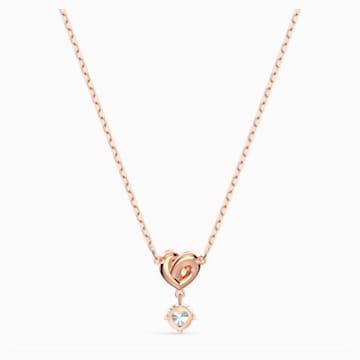 Lifelong Heart 链坠, 白色, 镀玫瑰金色调 - Swarovski, 5516542
