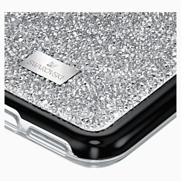 Glam Rock Smartphone Case with Bumper, iPhone® 11 Pro, Silver Tone - Swarovski, 5516873