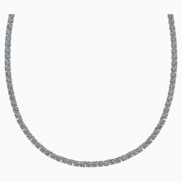 Tennis Deluxe 項鏈, 黑色, 鍍釕 - Swarovski, 5517113