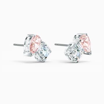 Attract Soul Серьги, Розовый Кристалл, Родиевое покрытие - Swarovski, 5517118