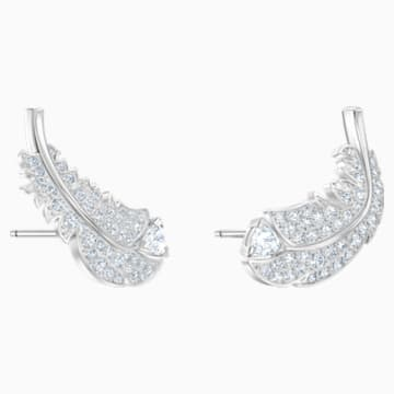 Nice Set, White, Rhodium plated - Swarovski, 5517161
