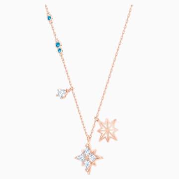 Sada se symbolem hvězdy Swarovski, Bílá, Pozlacená růžovým zlatem - Swarovski, 5517178