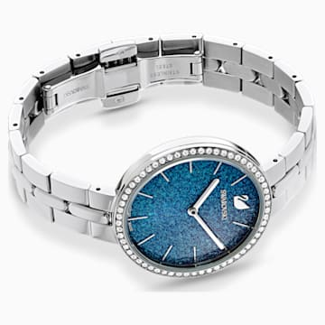 Orologio Cosmopolitan, bracciale di metallo, azzurro, acciaio inossidabile - Swarovski, 5517790