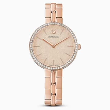 Cosmopolitan Часы, Металлический браслет, Розовый Кристалл, PVD-покрытие оттенка розового золота - Swarovski, 5517800