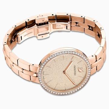 Ceas Cosmopolitan, brățară de metal, roz, nuanță aur roz aplicată prin depunere fizică de vapori - Swarovski, 5517800