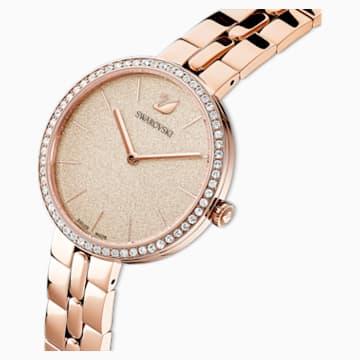 Orologio Cosmopolitan, bracciale di metallo, rosa, PVD oro rosa - Swarovski, 5517800