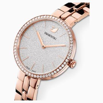 Reloj Cosmopolitan, brazalete de metal, blanco, PVD tono oro rosa - Swarovski, 5517803