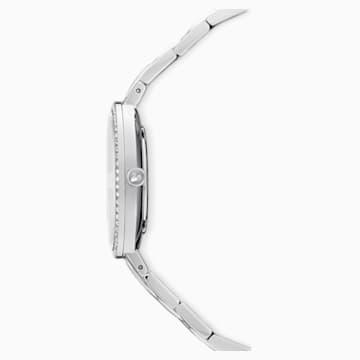 Orologio Cosmopolitan, bracciale di metallo, bianco, acciaio inossidabile - Swarovski, 5517807