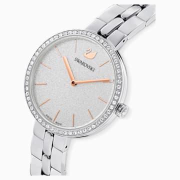 Cosmopolitan 手錶, 金屬手鏈, 白色, 不銹鋼 - Swarovski, 5517807