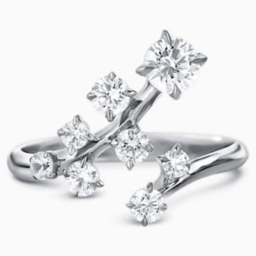 Signature Large Ring, Swarovski Created Diamonds, 18K White Gold - Swarovski, 5517833
