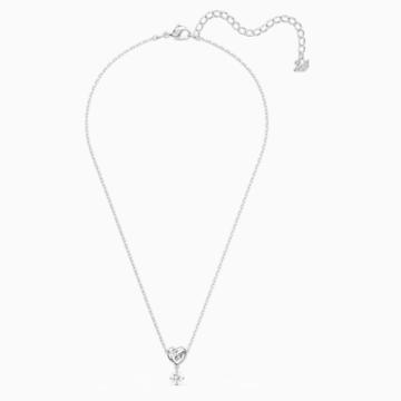 Pendentif Lifelong Heart, blanc, métal rhodié - Swarovski, 5517928