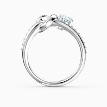 Lifelong Heart Ring, White, Rhodium plated - Swarovski, 5517930