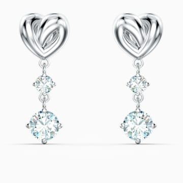 Lifelong Heart Серьги, Белый Кристалл, Родиевое покрытие - Swarovski, 5517943