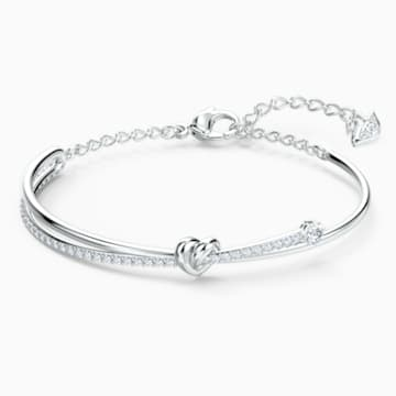 Lifelong Heart-armband, Wit, Rodium-verguld - Swarovski, 5517944