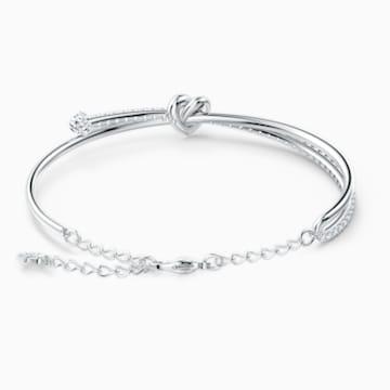Náramek Lifelong Heart, bílý, rhodiovaný - Swarovski, 5517944