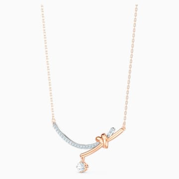 Collier Lifelong Heart, blanc, finition mix de métal - Swarovski, 5517951