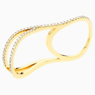 Arc-en-ciel Double Ring, 18K Yellow Gold, Size 48 - Swarovski, 5518005