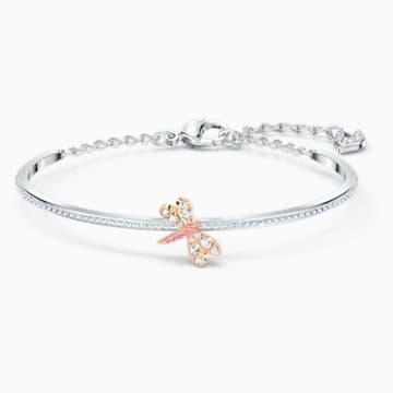 Kruhový náramek Eternal Flower, růžový, smíšená kovová úprava - Swarovski, 5518138