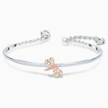 Bracelet-jonc Eternal Flower, rose, finition mix de métal - Swarovski, 5518138