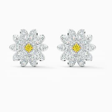 Peckové náušnice Eternal Flower, žluté, smíšená kovová úprava - Swarovski, 5518145