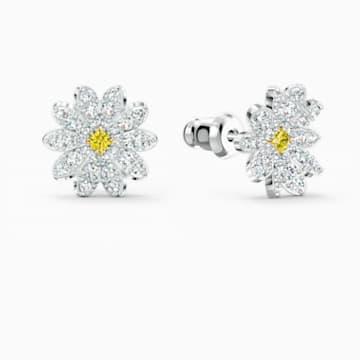 Eternal Flower İğneli Küpe, Sarı, Karışık metal bitiş - Swarovski, 5518145