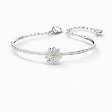 Set Eternal Flower, galben, finisaj metalic mixt - Swarovski, 5518146