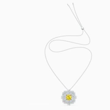 Brož Eternal Flower, žlutá, smíšená kovová úprava - Swarovski, 5518147
