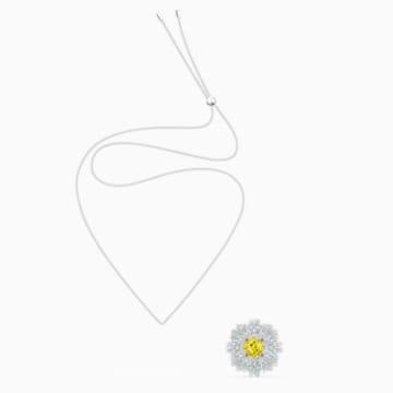 Eternal Flower Broş, Sarı, Karışık metal bitiş - Swarovski, 5518147