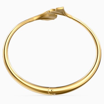 Bracelet-jonc Stunning Ginko, blanc, métal doré - Swarovski, 5518170