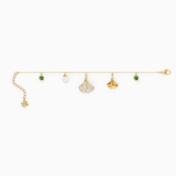Náramek Stunning Ginko, zelený, pozlacený - Swarovski, 5518173