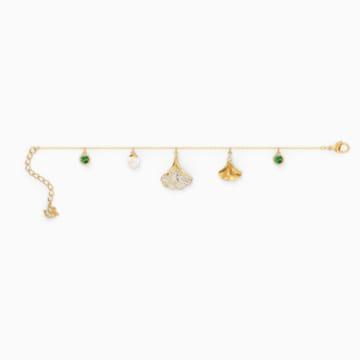 Stunning Ginko 手鏈, 綠色, 鍍金色色調 - Swarovski, 5518173