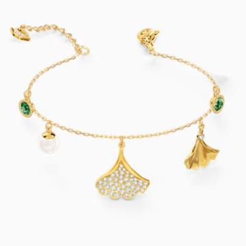 Bracelet Stunning Ginko, vert, métal doré - Swarovski, 5518173