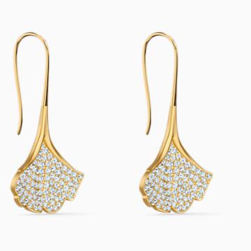 Orecchini Stunning Ginko, bianco, placcato color oro - Swarovski, 5518176