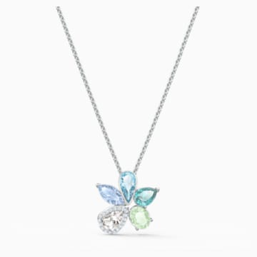 Sunny Necklace, Light multi-colored, Rhodium plated - Swarovski, 5518414