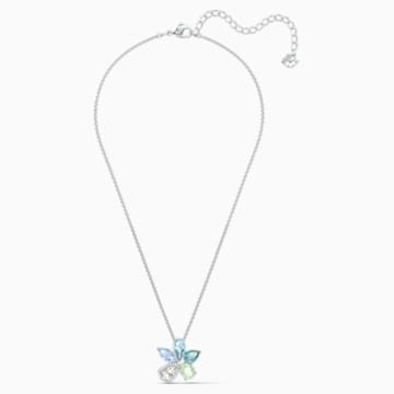 Sunny Necklace, Light multi-colored, Rhodium plated - Swarovski, 5518414