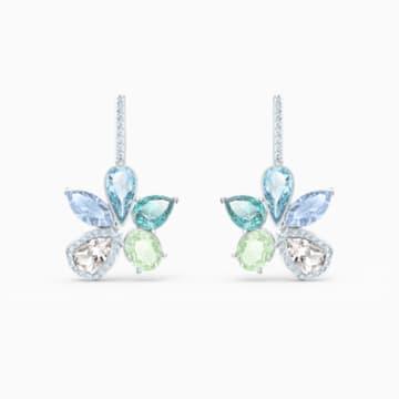 Boucles d'oreilles Sunny, multicolore clair, métal rhodié - Swarovski, 5518416