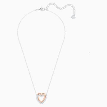 Swarovski Infinity Double Heart Halskette, weiss, Metallmix - Swarovski, 5518868