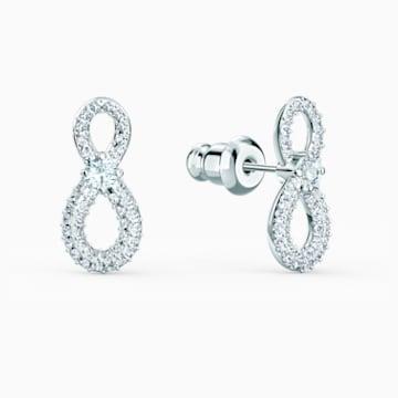 Boucles d'oreilles Swarovski Infinity Mini, blanc, métal rhodié - Swarovski, 5518880