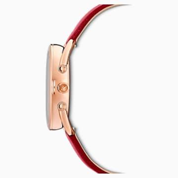 Orologio Crystalline Glam, cinturino in pelle, rosso, PVD oro rosa - Swarovski, 5519219