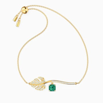 Tropical Bileklik, Yeşil, Altın rengi kaplama - Swarovski, 5519234